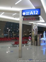 The seating area for Gate A12