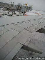 Looking down at our wing