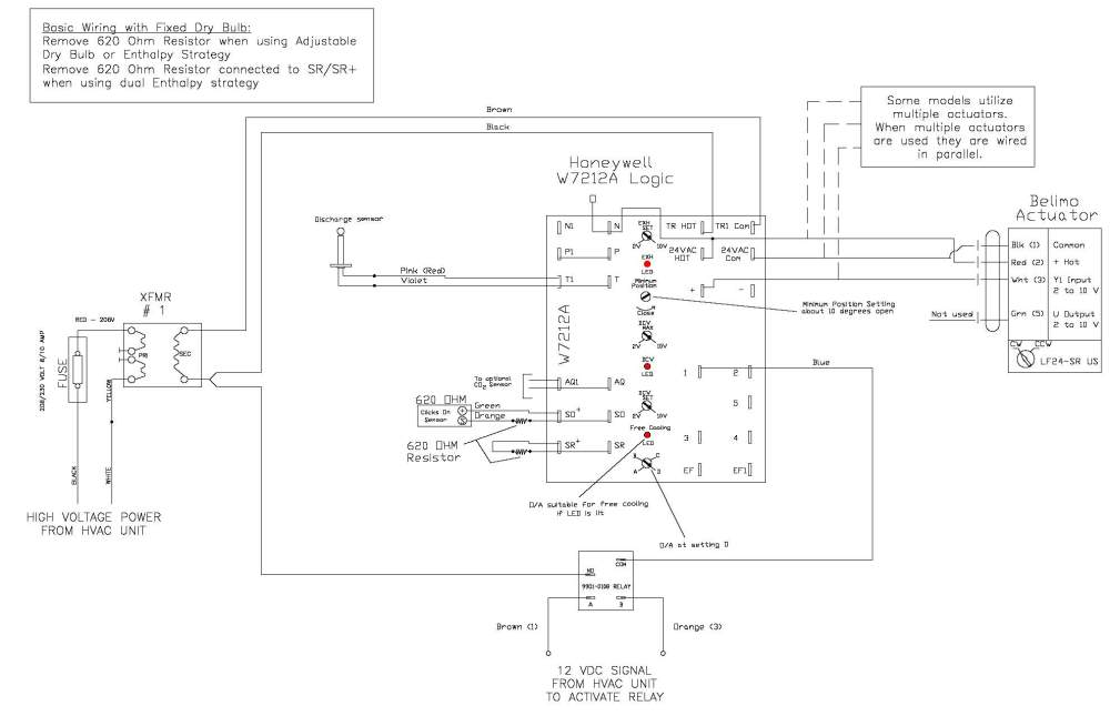 medium resolution of for instance in this wiring diagram from the economizer package manufacturer it