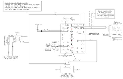 small resolution of for instance in this wiring diagram from the economizer package manufacturer it