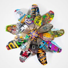 SubAmericana-EchinaceaPurpurea-01-SkateboardSpraypaintSculpture