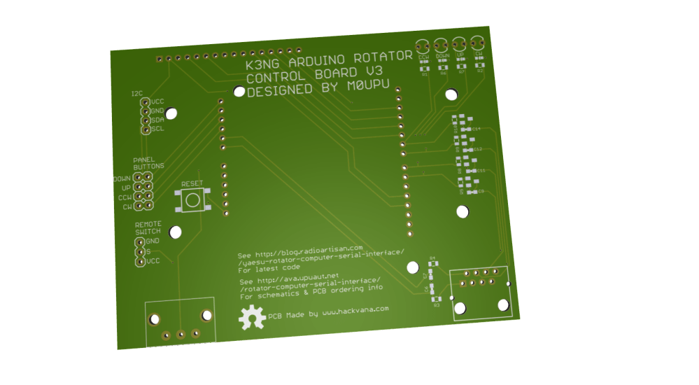 medium resolution of as before i plan to offer this pcb with the headers rj45 for rotator connection arduino headers and back light dimming resistor and the switching