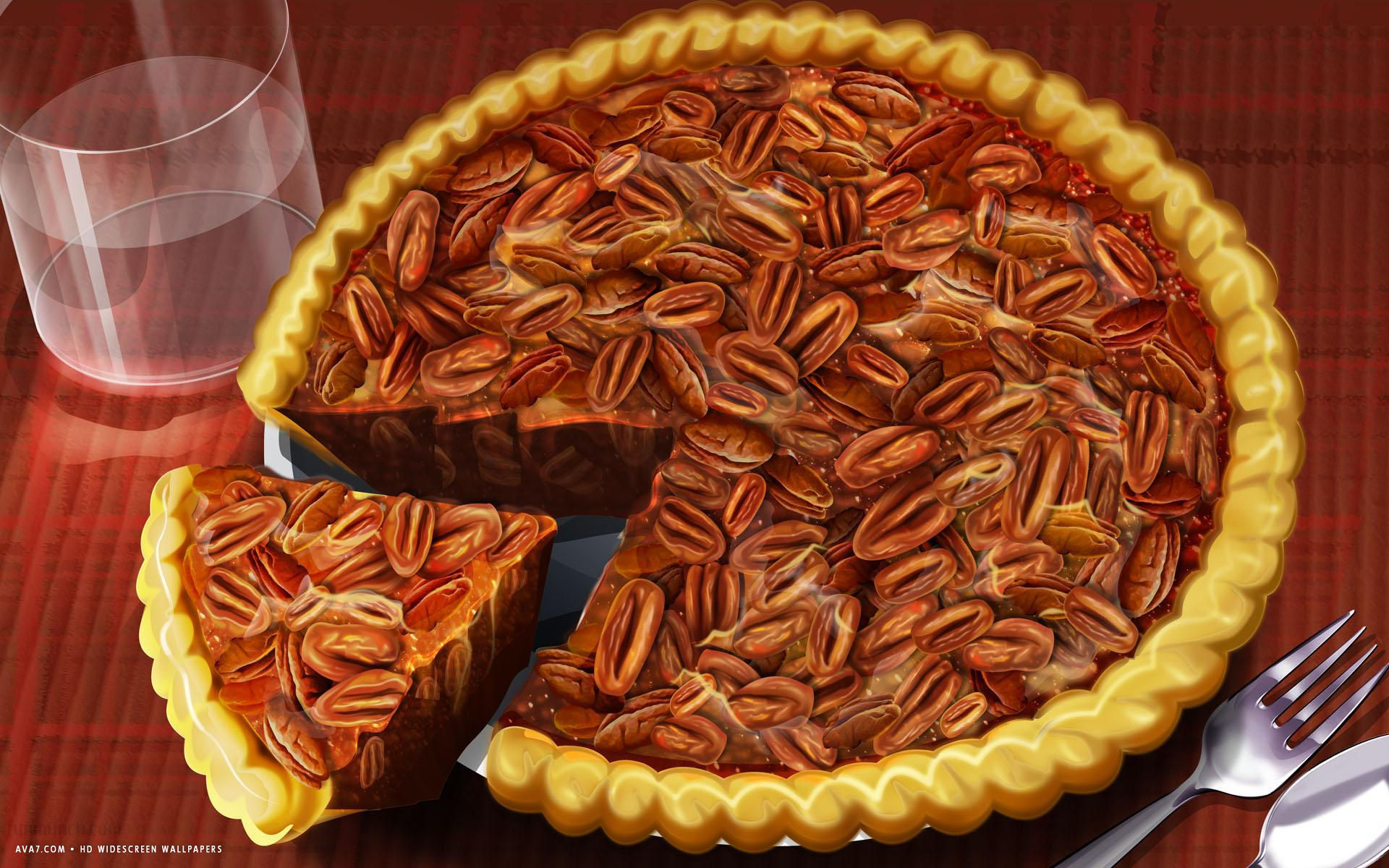Potato Wallpaper Cute Thanksgiving Day Food Pecan Pie Slice Holiday Hd