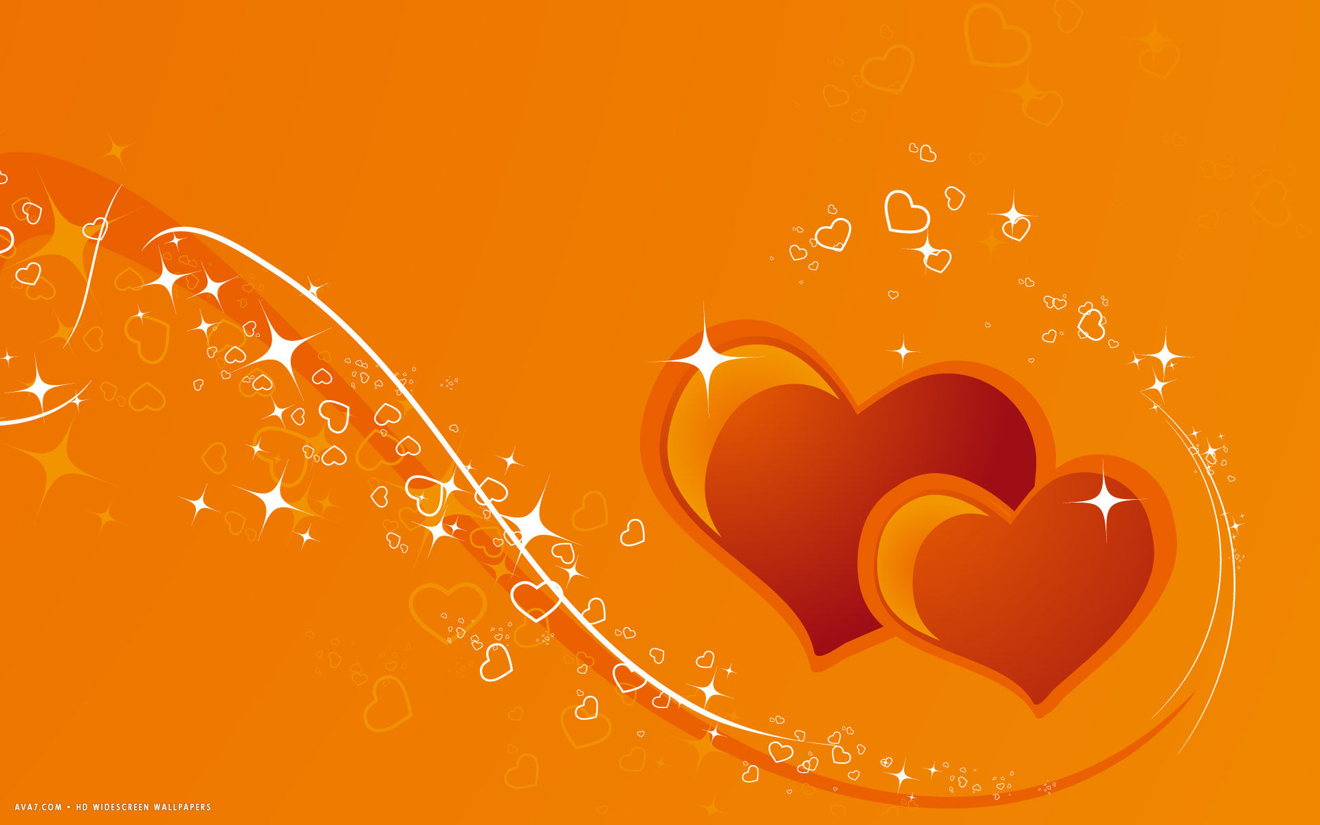 Animal Print Desktop Wallpaper Hearts Two Orange Red Magic Vector Lines Stars Hd