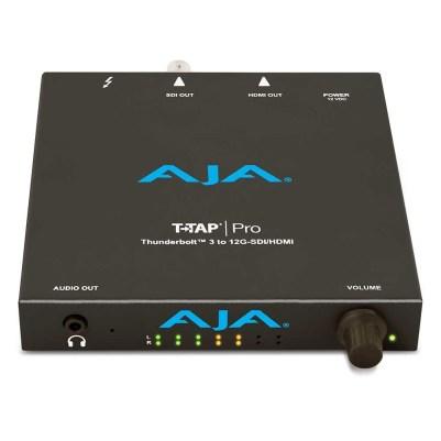 Vista superior de la capturadora T-Tap Pro de AJA