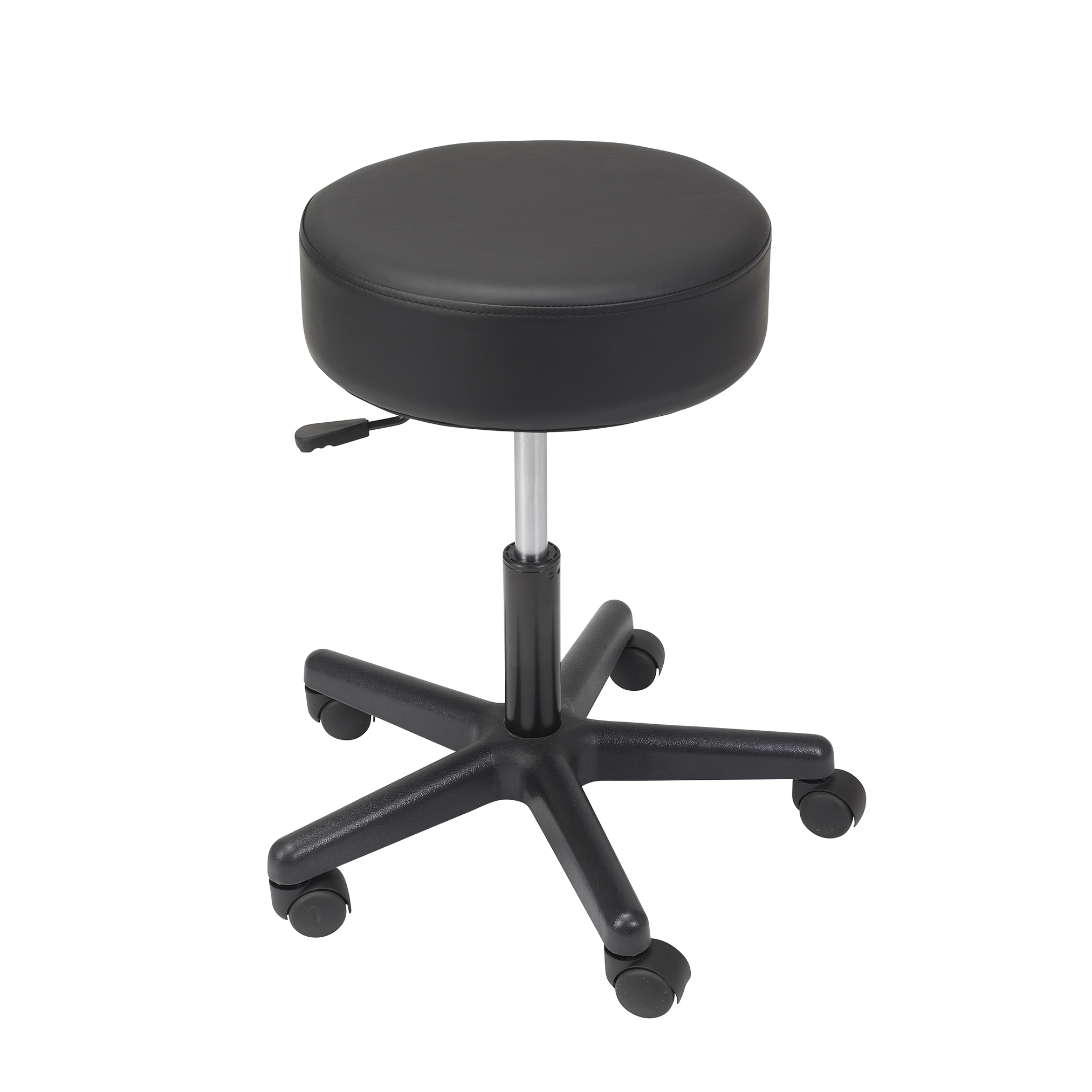 revolving chair for doctor vintage office padded seat adjustable height stool plastic
