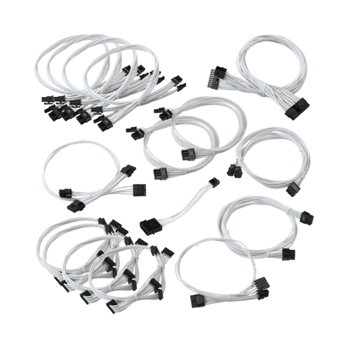 EVGA 100-CW-1050-B9 GS/PS White Power Supply Cable Set
