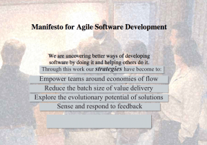 Agile Manifesto Strategies