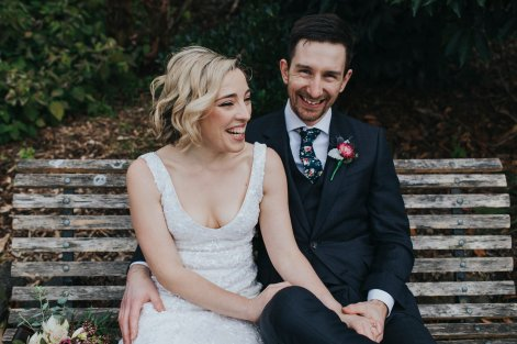 natural elegant bride from Melbourne
