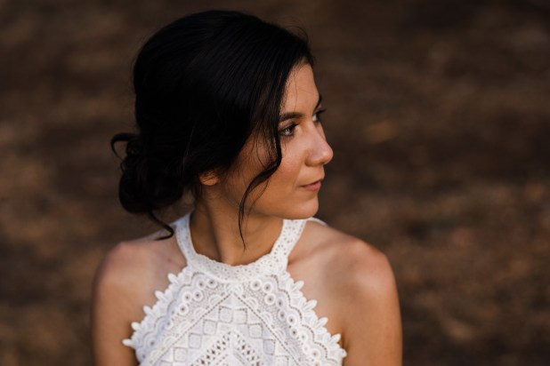 natural boho bridal hair and makeup for a Melbourne bride