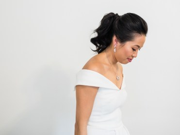 asian bridal pony tail hair and makeup Melbourne