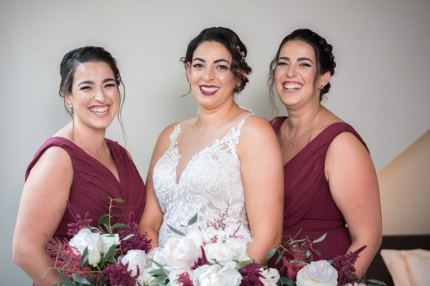 vintage bride and bridesmaid hair and makeup at Lyrebird Falls
