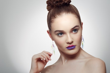 Erin Saunders beauty shoot published in IMIRAGE magazine