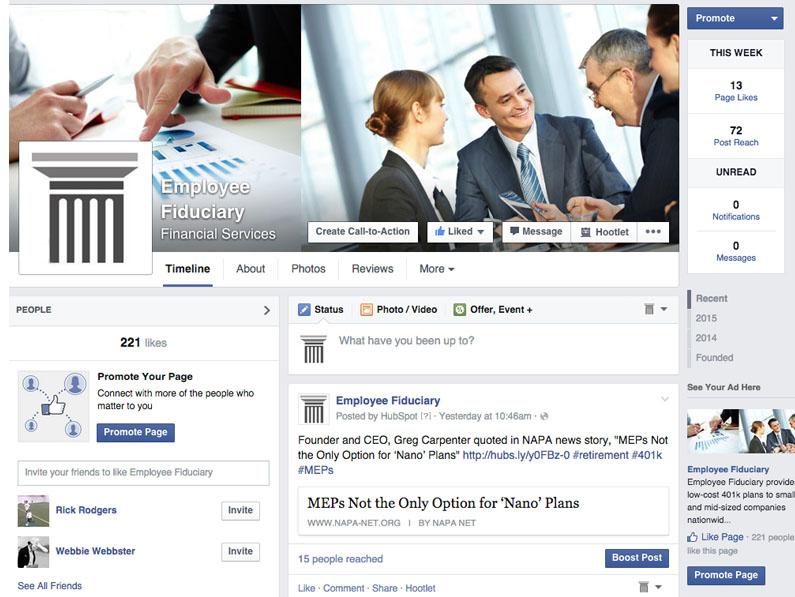 Employee Fiduciary Facebook