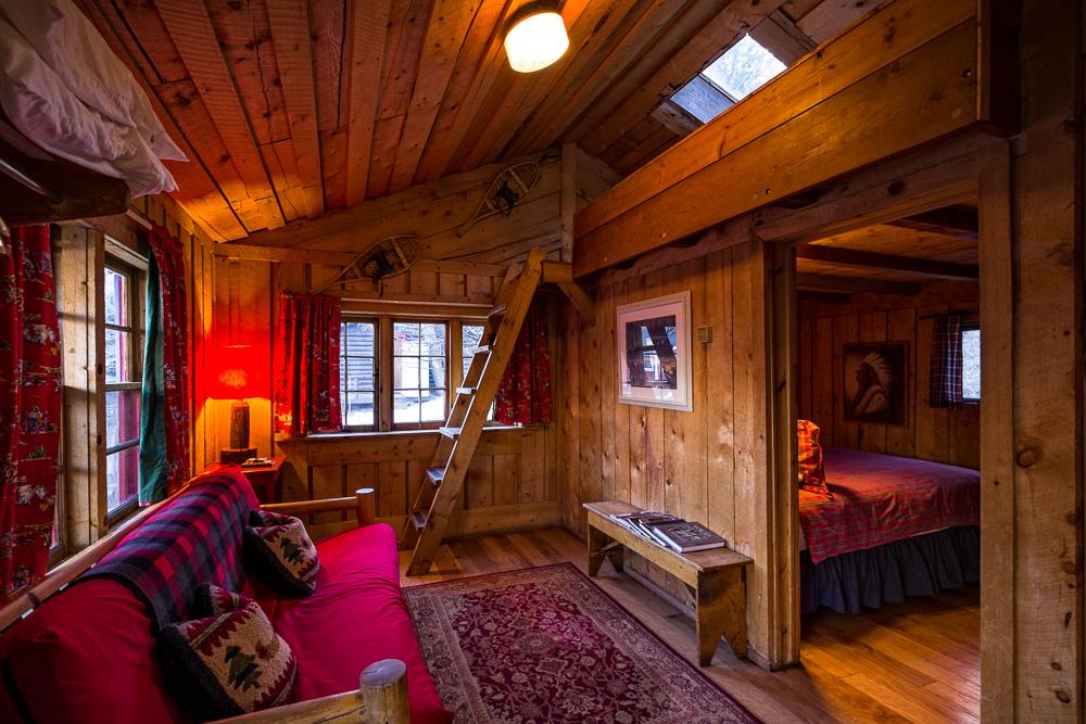 Rustic Cabin Interior  Avalanche Ranch