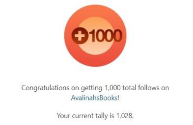 1000 blog follows badge