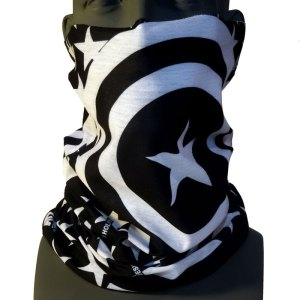 AVALON7 Patriot Tshield Black and White American Flag Facemask