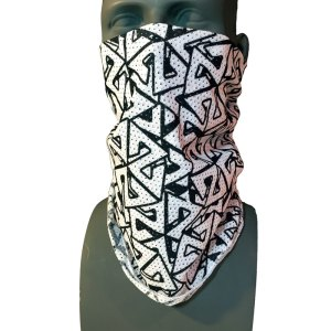 AVALON7 Black and White Mesh Snowboarding Bandana