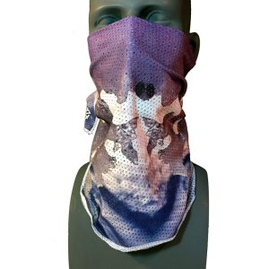 Purple Mesh Snowboarding Bandana by Rob Kingwill