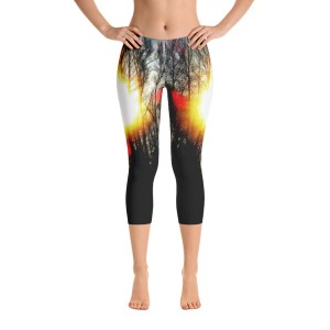 AVALON7 Yoga running pants- artist series cottonwood sunburst
