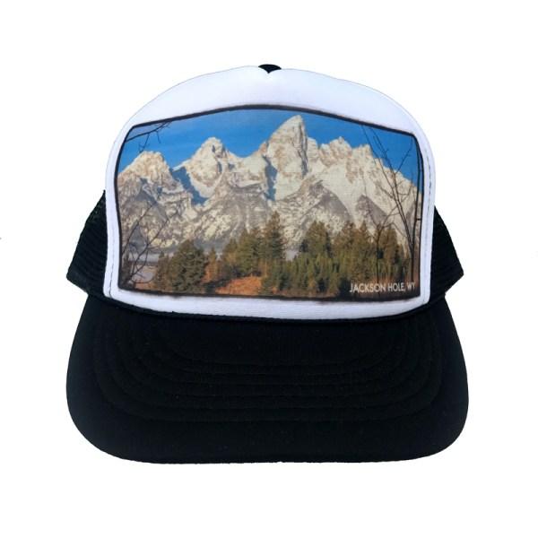 AVALON7 Shadow Mountain Teton Trucker hat designed in Jackson Hole