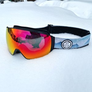 Anti fog snowboarding and skiing goggle by A7 Optics with magnetic attachment system and teton straps