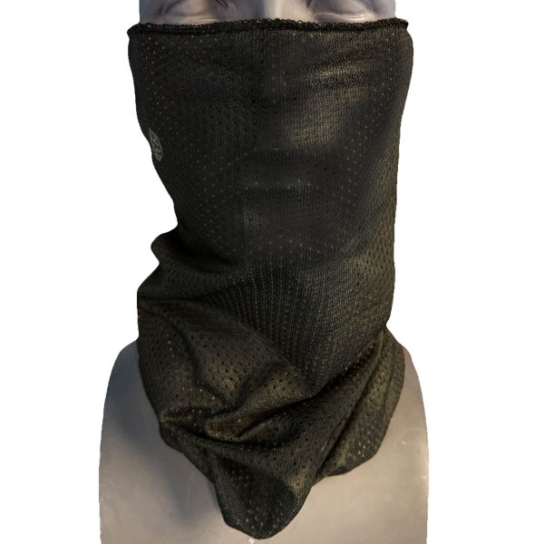 Standard Black Mesh Neck Gaiter - Neck Tube - Face Mask - Buff - Avalon7 Snowboard Accessories