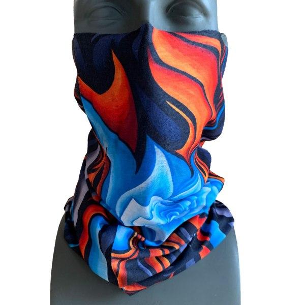 Blue Rose Neck Gaiter by Katie Cleveland