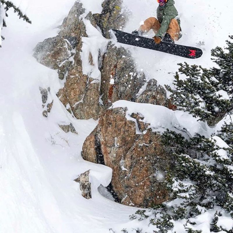 3 2 1 drop!  @randystrand3 enjoying the possibilities of the deep snow landings at @jacksonhole lately.  Photo: @_mattlancaster #AVALON7 #LiveActivated #snowboarding