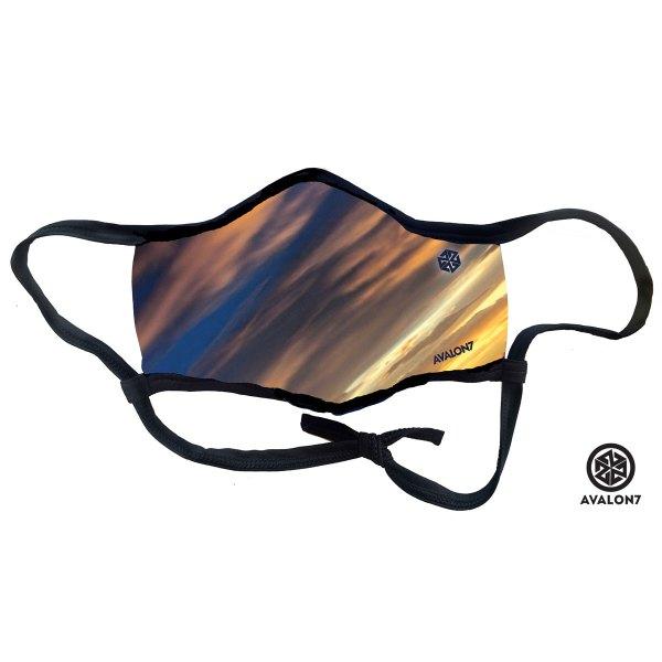 AVALON7 Sunslash sunset colored social distancing smoke mask