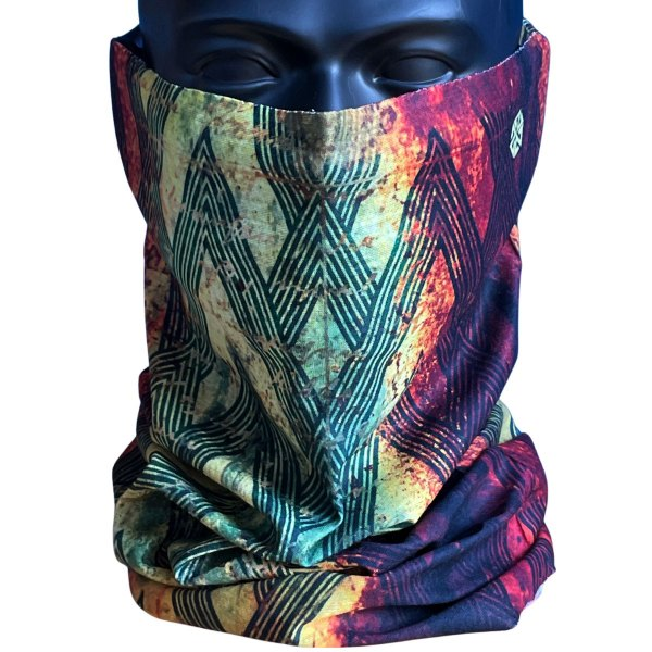 A7 Rasta Deco Neck Gaiter for snowboarding, skiing, hiking and runnning