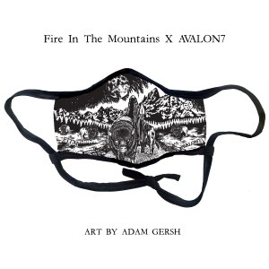 Avalon7 X Fire in the Mountains Festival facemask by Adam Gersh metal