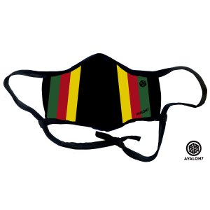 Rasta Stripe Cool Social Distancing Face Mask Fit Mask with adjustable ear loops and 3 layer protection plus nose bridge and filter pocket