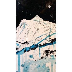 Avalon7 snowboarding neckgaiter featuring Mt Shuksan by Liz Park