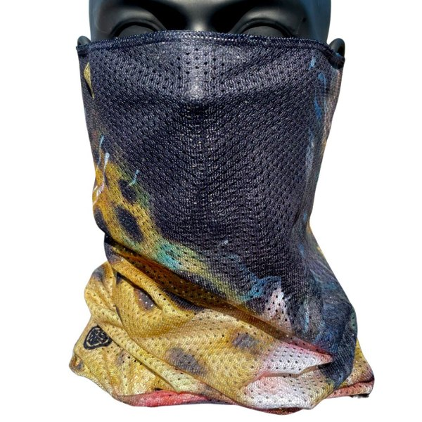avalon7 brown trout mesh neck gaiter facemask