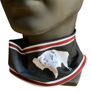 Wyoming State Flag Bison Neck Band