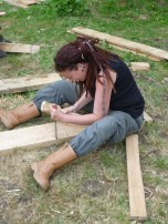 Claire taking out one part of a lap joint