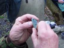 Malachite, copper ore.