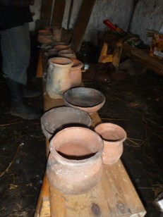 Each vessel is carefully removed and put to one side.