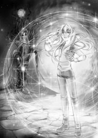 Kara activates the fairy map