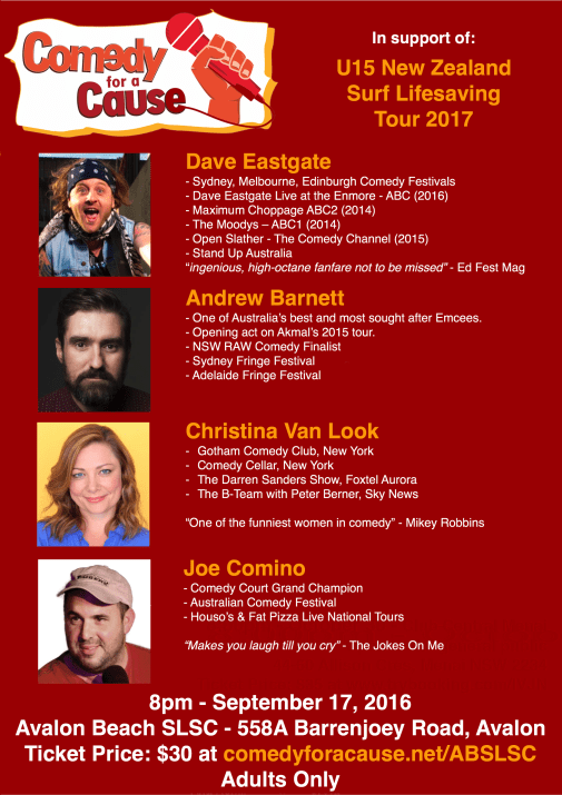 Comedy Night  - Sept 2016