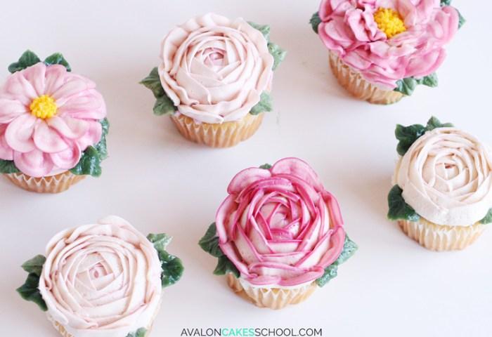 How To Make Buttercream Flower Cupcakes Avalon Cakes
