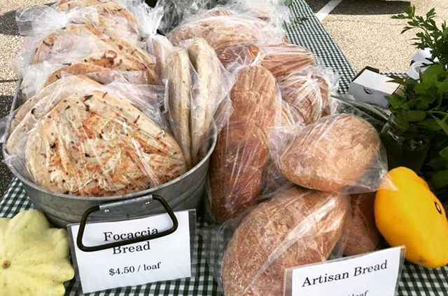 So, if you made it to Poplar Head farmers market last week, did you try any of our fresh baked breads? If you missed it, we'll be baking our little hearts out on Friday. Come early Saturday if you want the focaccia (Italian herb flatbread) – it goes fast!