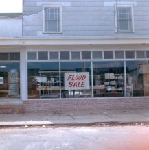 """""""Sign in window of Keen's Pharmacy on 21st St."""" - Jim Thatcher"""