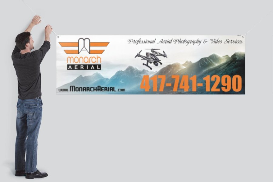 Monarch Aerial Logo and Banner by Avalon Graphic Designs | Avalon Web Designs
