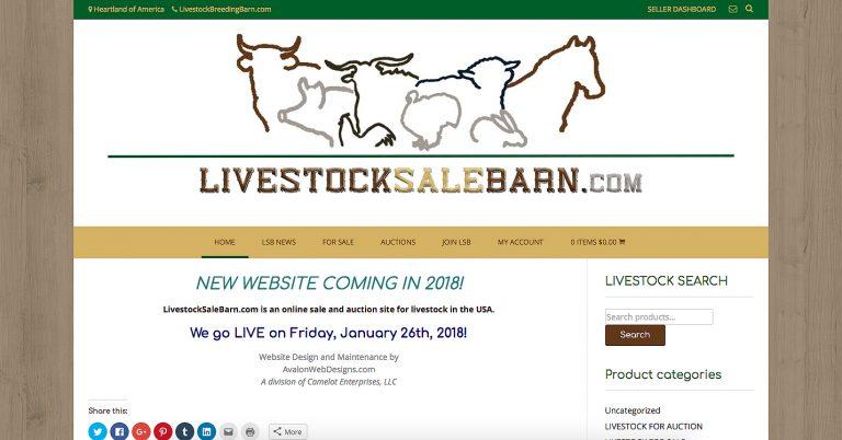 AvalonWebDesigns.com | Livestock Sale Barn website design by KJ Burk