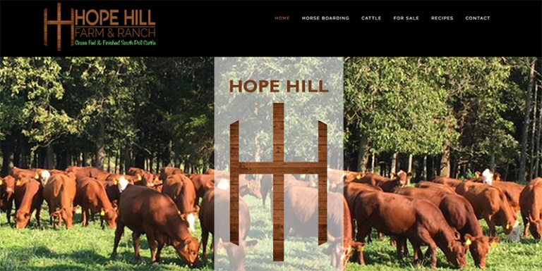 Avalon Web Designs | Hope Hill Farm and Ranch ~ Hope Hill Cattle Company