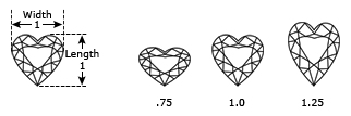 Heart Cut Dimensions