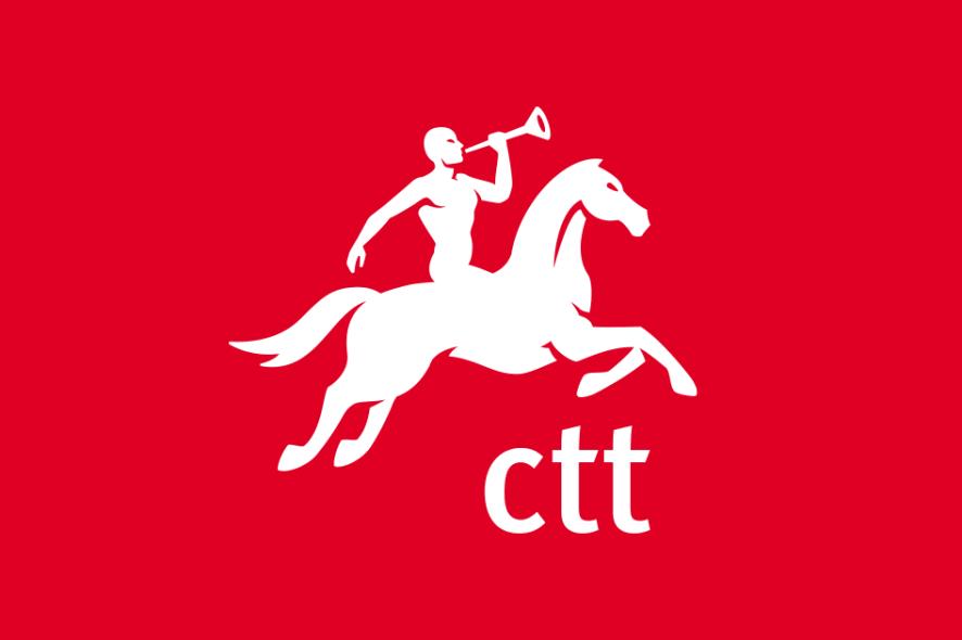 logótipo dos CTT