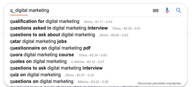 Comandos Google Search